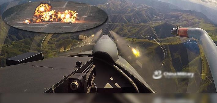 首见第一视角!歼10C射火箭弹对地打击