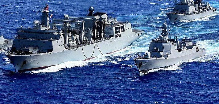 航母奶妈伺候着!我盾舰侦察舰远洋训练