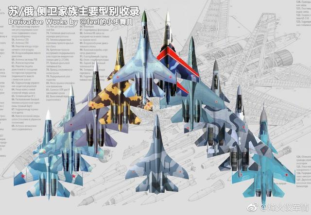 """侧卫战机是前苏联霍伊设计局研制的一系列单座双发全天候空中优势重型战斗机,主要任务是国土防空、护航、海上巡逻等。北约组织给予的绰号是""""侧卫""""也就是侧卫战机。有四种基本型号苏-27 """"侧卫""""、苏-30""""超级侧卫""""、苏-33""""海侧卫""""(即舰载机)、苏-35""""终极侧卫""""。(来源:烽火议军情)"""