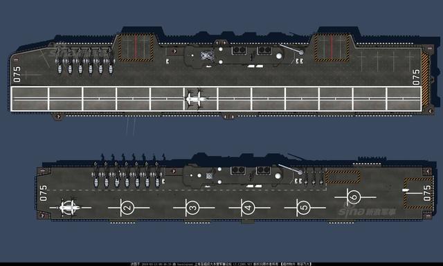 近日网友绘制了一组我军未来075两栖舰的CG想象图,滑跃版075惊艳亮相。舰体260米长,40米宽,拥有舷外升降机和055的集成桅杆,四面还有3个1130、两个HQ10、 2到3座单30以及4个多功能发射器,外形与英国最新女王级航母非常相似。(来源:超大 baoxiuyuan)