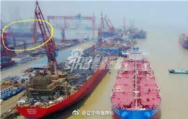近日,有消息称我国大型航母编队补给舰901二号舰疑似顺利下水。(图片来源:辽宁号指挥长)