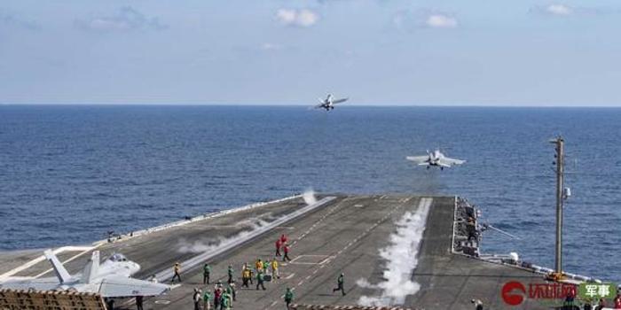 美军杜鲁门号航母已逼近伊朗 舰载机密集出动(图)