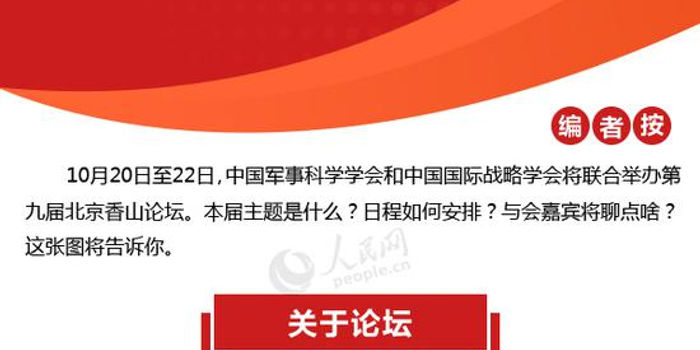 圖解:第九屆北京香山論壇前瞻 中外國防部長聊點啥