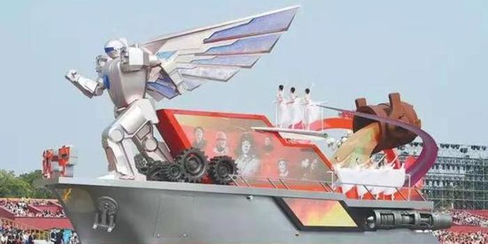 遼寧國慶彩車載有7米高機器人 系由沈飛制造(圖)