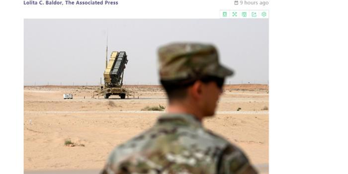 美国将从沙特撤出两部爱国者系统和多架战机