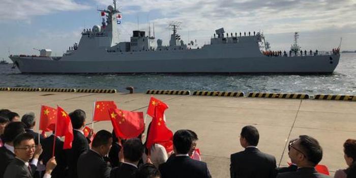 中國海軍神盾艦抵日本參加閱艦式 系歷史首次