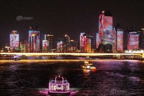 """广州亚洲美食节 珠江北岸变身""""灯光美食长廊"""""""