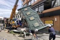 """台风""""法茜""""致日本2死61伤 近百万户停电"""