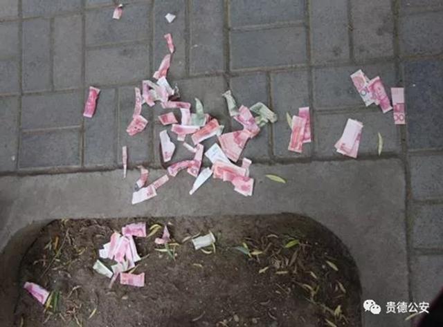 7月11日晚,贵德公安公布一件损坏人民币案件。青海省海南州贵德县公安局河西派出所查处一起故意毁损人民币案,并给予违法行为人马某罚款1800元并处警告的行政处罚。7月5日,河西派出所警察在案件调解结束后,马某出于炫耀拿着夏某赔付的1102元人民币当众撕毁。来源:澎湃新闻