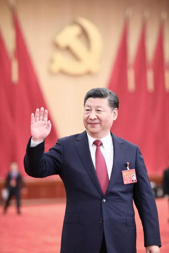 2017年10月25日,习近平在北京人民大会堂亲切会见出席党的十九大代表、特邀代表和列席人员。新华社记者兰红光摄