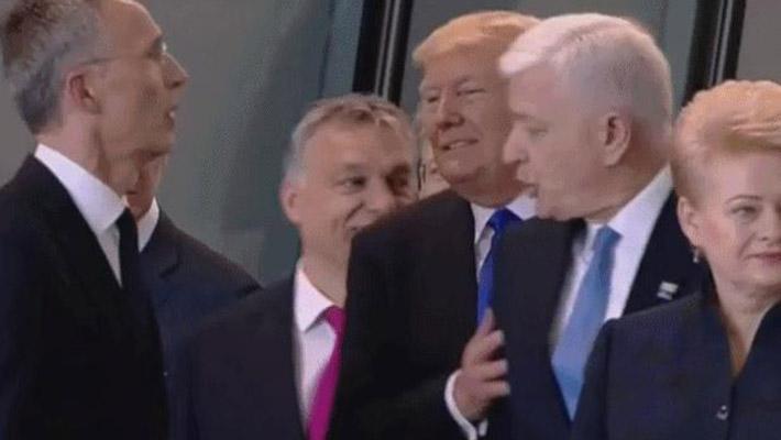 霸道!特朗普一手推开黑山总理
