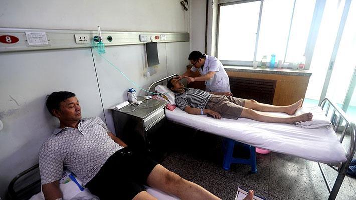 义马气化厂伤员接受紧急救治
