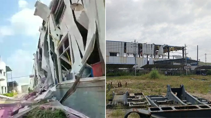 广西玉林化工厂发生爆炸现场