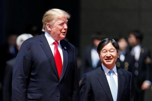 美国总统特朗普持续访日行程 会见新天皇德仁