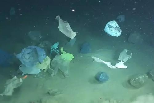 2000米深的海底发现垃圾