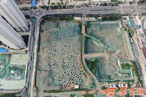 在建楼盘发现战国时期墓葬群