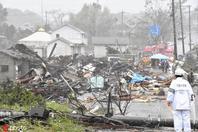近60年来最强台风逼近 日本房屋被吹垮多人受伤