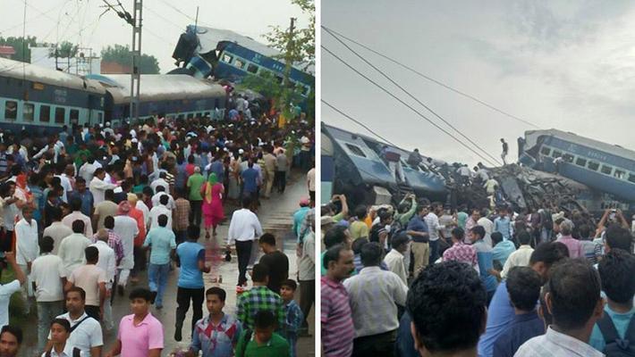 印度火车6节车厢脱轨 致23人死亡