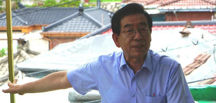 """韩国首尔市长""""蜗居""""顶楼一个月"""