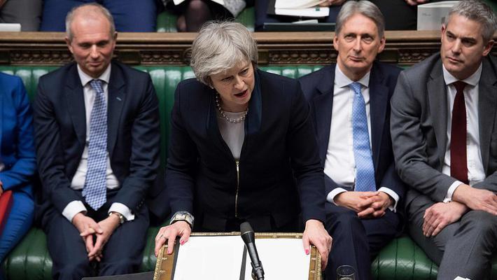脱欧协议未获英国议会通过