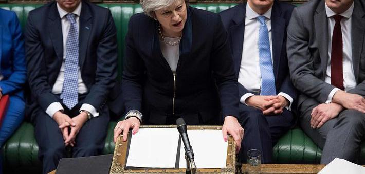 特雷莎的脱欧协议未获英国议会通过
