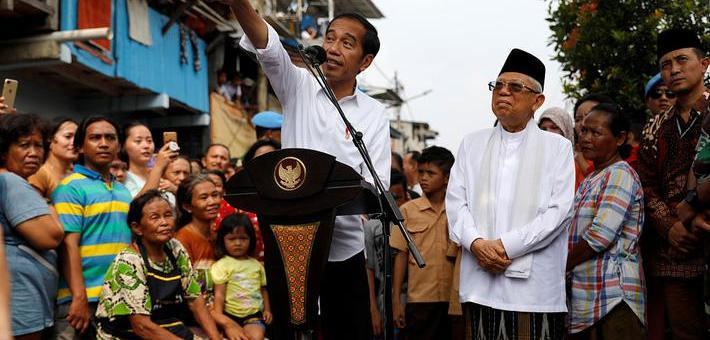 印尼现任总统佐科赢得19年总统选举