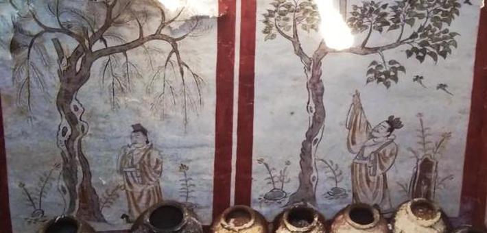 太原施工地挖出唐代墓葬 壁画精美