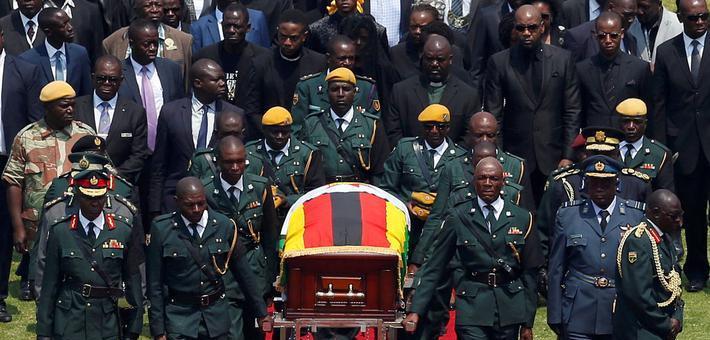 津巴布韦为前总统穆加贝举行国葬