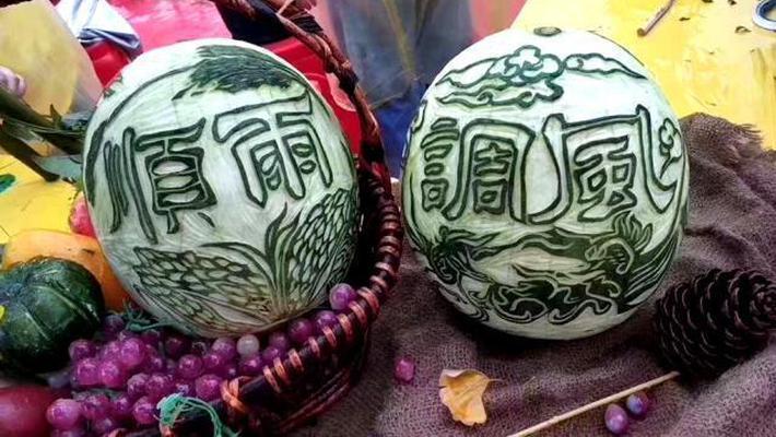 平湖西瓜灯文化节雕瓜赏瓜灯