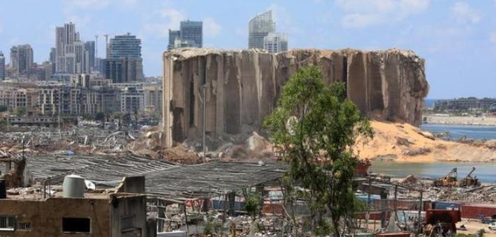 黎巴嫩大爆炸后废墟建筑遍地可见