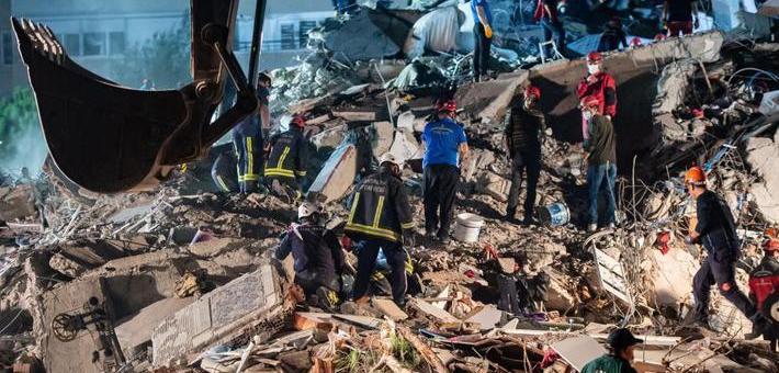 爱琴海发生强烈地震 已致20余人死
