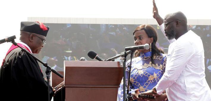 乔治·维阿宣誓就职利比里亚总统