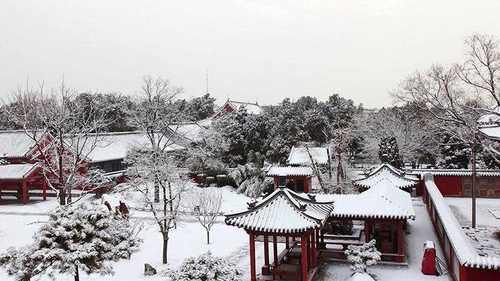 华北多地迎2017入冬第一场雪