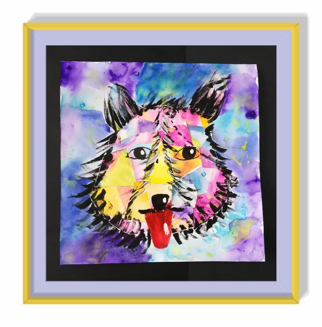 Interest·趣——一米爱心艺术公益沙龙作品展。图注:曾雨欣,6岁,莫奈大师,《狗》。