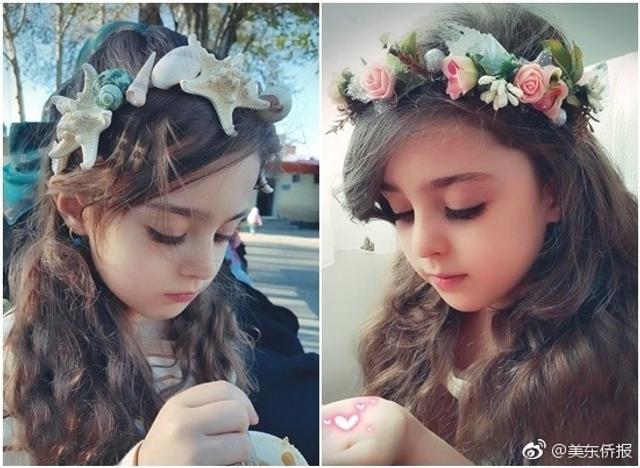 """年仅8岁的伊朗女孩Mahdis拥有一双灵气大眼和巴掌小脸,睫毛浓密看起来像极了洋娃娃,被封为""""全世界最美女孩""""。"""