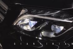 奔驰GLS,450,安装解锁一蓝全LED前灯