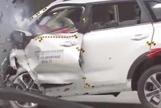 起亚智跑实车碰撞测试,这安全性不比沃尔沃差吧?