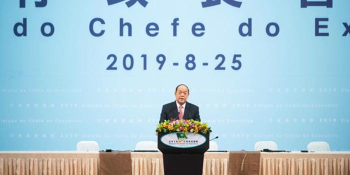 澳门特区行政长官何毅城:香港需要国家安全立法