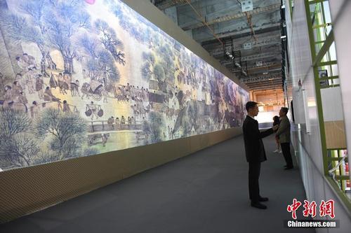 《清明上河图3.0》数字艺术展在广州揭幕