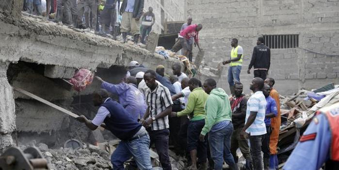肯尼亞首都一房屋倒塌 至少4人死亡多人被困