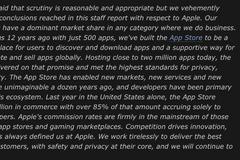 苹果回应美国会报告:强烈反对,App Store没有垄断