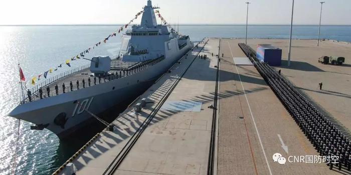 055大驱首舰南昌舰入列 中国海军迎来第四代驱逐舰