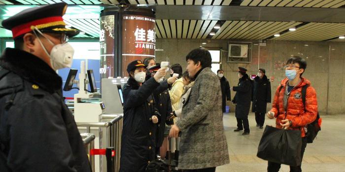 北京西站啟動武漢到京旅客體溫檢測