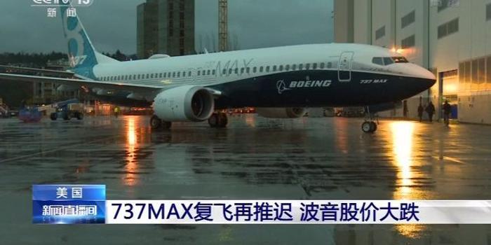 美國737 MAX復飛再推遲 波音股價大跌