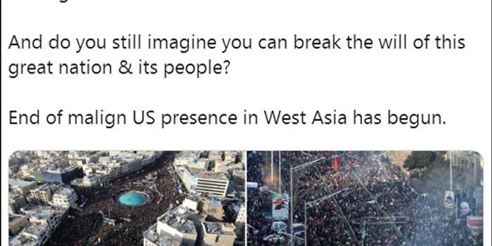伊朗外交部长质问特朗普:你此生见过这样的人海吗?