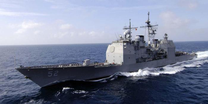 """美舰在中国南沙群岛""""自由航行"""" 从南薰礁附近通过"""