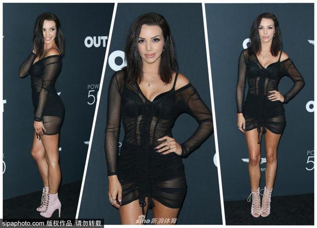 当地时间2017年8月10日,美国洛杉矶,真人秀女星施瑞娜·玛丽(Scheana Marie)穿黑色透视紧身裙亮相,好身材一览无遗。