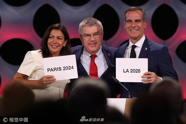 当地时间9月13日,在秘鲁首都利马举行的国际奥委会第131次全会上,正式确认2024年和2028 年两届奥运会举办城市,2024年奥运会花落法国巴黎,2028 年奥运会将前往美国洛杉矶。