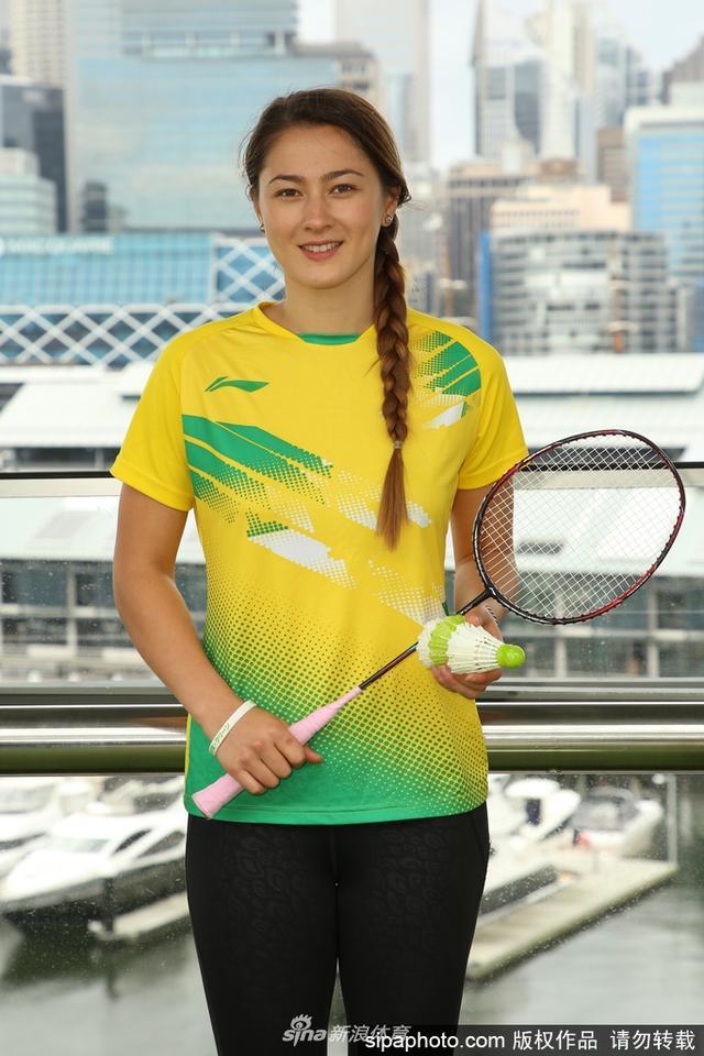 当地时间2017年6月19日,澳大利亚悉尼,2017年澳大利亚羽毛球超级赛媒体日活动,康有为曾孙女萨莫维尔、印度名将辛杜出席。