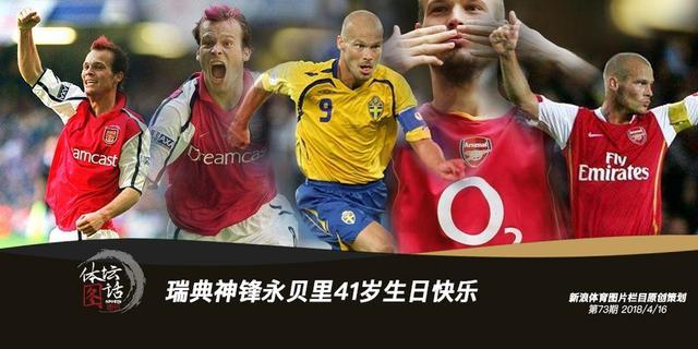 今天4月16日,是前阿森纳的瑞典著名球员永贝里的41岁生日,我们在这里祝永贝里生日快乐!